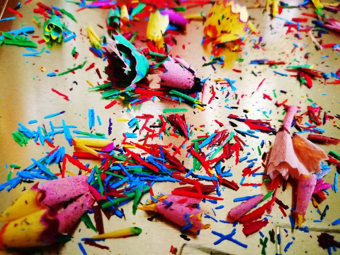 Crayons EyeEm Selects Multi Colored Messy Variation Vibrant Color Pencil Shavings No People Close-up