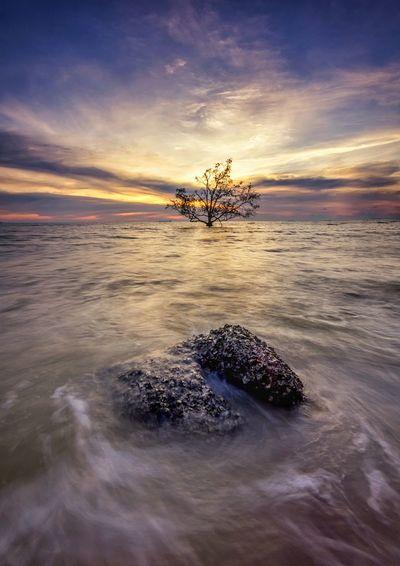 Rock Sea Sunset