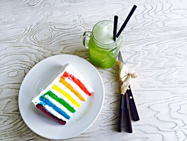 South Korea Rainbow Cake♥ Grape Juice Delicious ♡ Friend