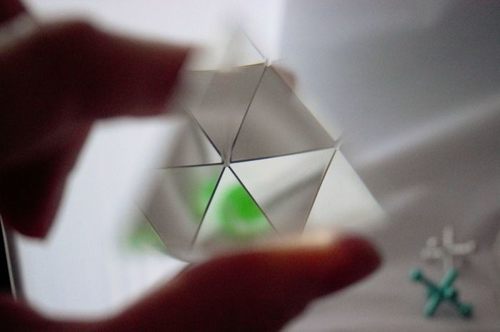 Glass Pyramid Close-up Day Glass Glass Pyramid Holding Human Body Part Human Hand Indoors  Jax Object Object Photography