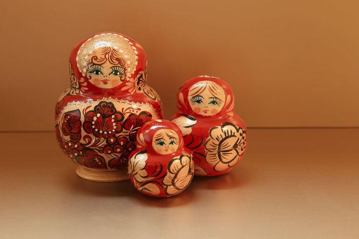Matrjoschka Art Babushka Close-up Craft Creativity Cute Decor Decoration Design Doll Handmade Man Made Object Matrjoschka Matryoshka Moscow Ornate Paint Puppet Russia Small Souvenir Still Life Toys Wooden