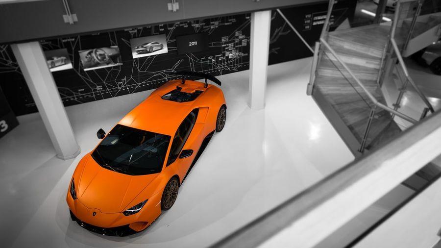 lamborghini huracan superleggera arancione Spotcolor Orange Color Grey Blackandwhite Canon Wheel Colors Italy Arts Culture And Entertainment Motor Vehicle Huracan  Lamborghini High Angle View Close-up Metal Industry