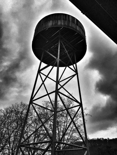 Blackandwhite Monochrome Clouds And Sky Water Towers