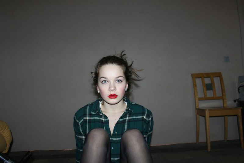 This pic is a bit older but i kinda like it☺ Me Redlips Lookingweird