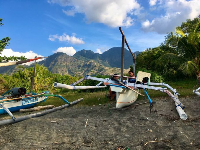 Mountain INDONESIA Indonesia_photography Permuteran Bali Boat Beauty In Nature Indonesian People's