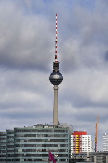 Architecture Broadcasting Building Exterior Built Structure City Cityscape Cloud - Sky Communication Day Global Communications Modern No People Outdoors Sky Skyscraper Spire  Tall - High Television Tower Tourism Tower Travel Travel Destinations Discover Berlin