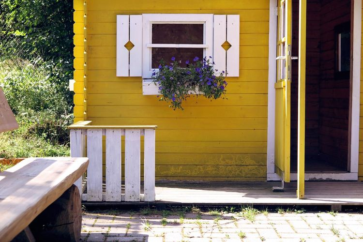 Window Beautiful Country Country Life Countryside Dreamy Flowers Idyllic Idyllic Scenery Lifestyles Lovely Plank Planter Romantic Rural Rural Scene Shutters Wood House Yellow Yellow House