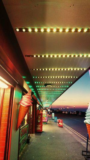 Herne Bay Amusement Arcade Seaside English Seaside Beachfront Kent England Kent Coast Herne Bay Kent HerneBay British Holiday Neon Lights
