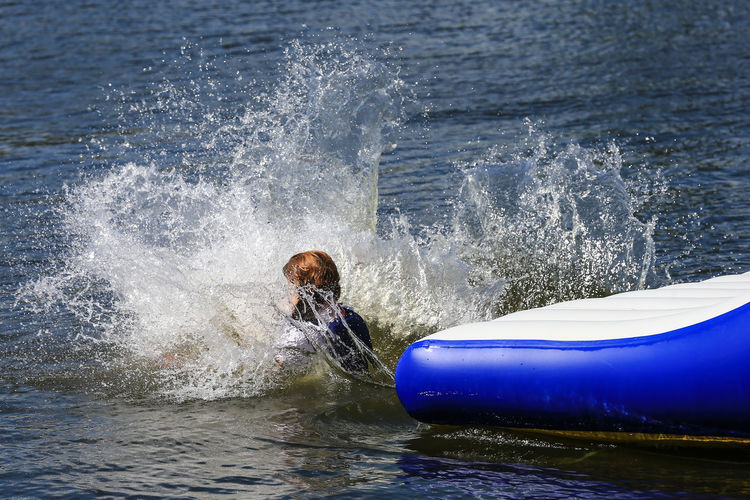 Day Lake Leisure Activity Lifestyles Motion One Person Outdoors People Real People Splashing Upton Warren Water Waterfront Wave Worcestershire Uk