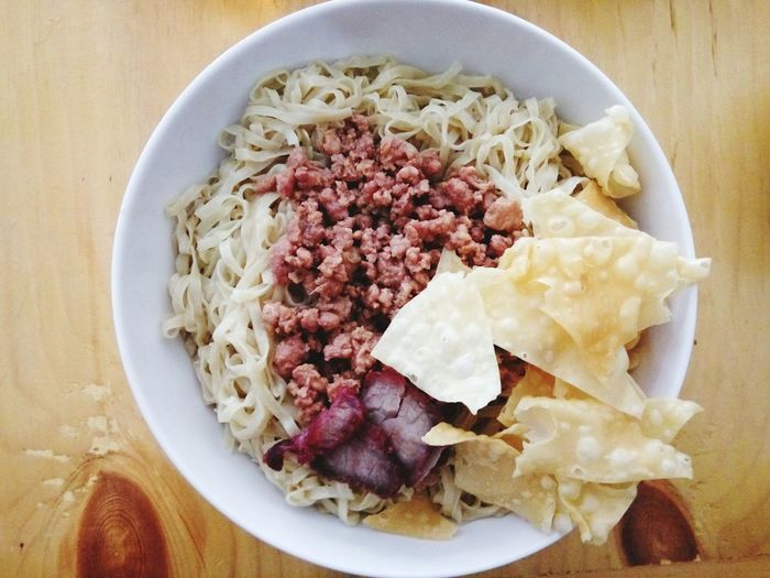 Bakmi (Noodle) Food Directly Above Food And Drink No People Indoors  Freshness INDONESIA Temptation Close-up Serving Size