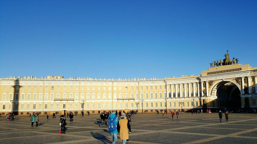 Travel Destinations Clear Sky Architecture History Blue Outdoors People Day Sky Politics And Government St. Petersburg, Russia Hermitage Museum Russia St. Petersburg Palace Hermitage, St. Petersburg Museum Palace Square Shadows & Lights Shadow Alexander Column