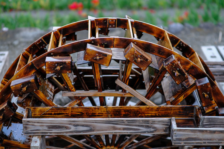 Antique Close-up Day Deterioration Focus On Foreground Machine Part Machinery Metallic No People Old Outdoors Part Of Run-down Rusty Selective Focus Waterwheel Wood - Material Wooden X-PRO2
