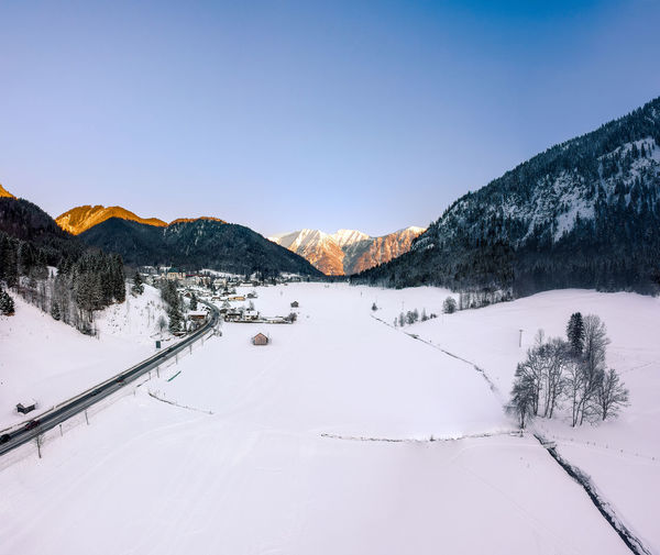 Snow Cold Temperature Winter Mountain Beauty In Nature Scenics - Nature Sky Tranquil Scene Tranquility Mountain Range Nature Tree Landscape Environment No People Day Non-urban Scene Plant White Color Snowcapped Mountain Outdoors Dji Dji Spark Spark Drone  Dronephotography Droneshot