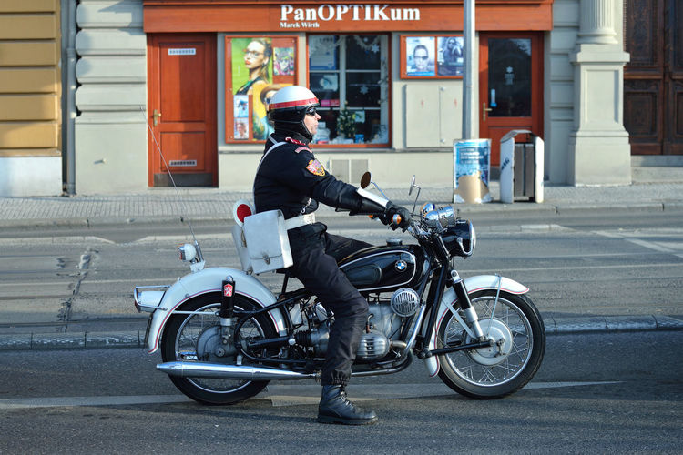 Patrol Czech Republic Prague Travel City Czechia Europe Motorcycle One Person Outdoors Road Street Streetwise Photography
