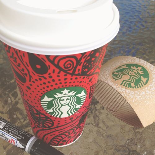 My Painting Relaxing Today Enjoying Life Enjoy Time Starbucks Starbucksthailand My Cup Chilling Coffee Shop