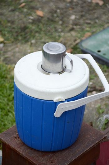 Picnic Blue Close-up Cooler Cub Equipment Food And Drink Ice Cooler No People Outdoors Plastic