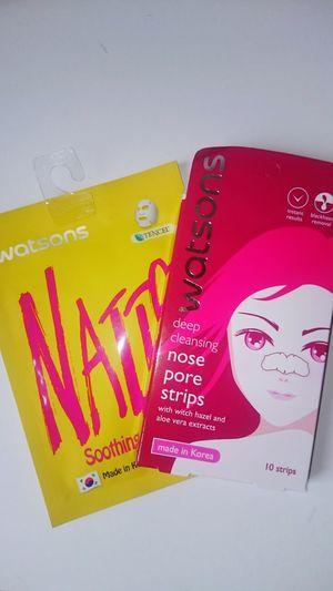 Ben böyle şeyler kullanmazdım ya Koreandrama Koreanmovie Anyonghaseyo Chance Noseporestrips Natto Soothing Facial Mask