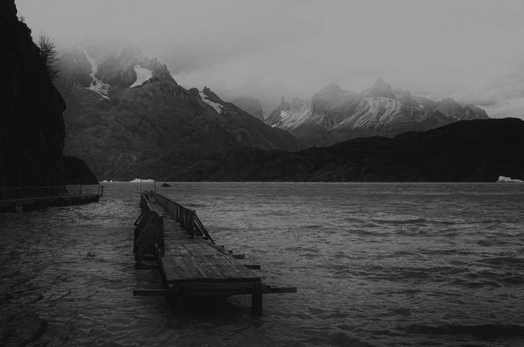 DARK WEATHER AT LAGO GREY Blackandwhite Landscape The Dark Landscape
