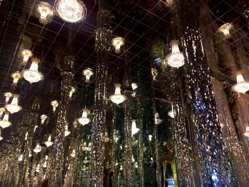 Temple Decoration Interior Design Illuminated Low Angle View Hanging Lighting Equipment Ceiling Indoors  Electricity  Light Bulb Night No People Christmas Decoration Christmas Close-up Christmas Ornament