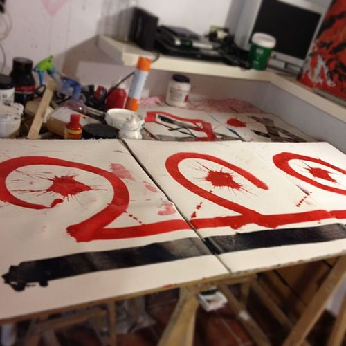 Sin título Ensayo con Tintas sobre papel Abstrato Arte negua @art_everywhere @garlash_art @artylea