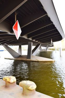Nature Sings Boats Sing River Elbe ♥️ Beauty In Nature Sunlight Sunshine ☀ Day Outdoors Focus On Foreground Water Bridge - Man Made Structure Architecture Built Structure River Bridge Waterfront Girder