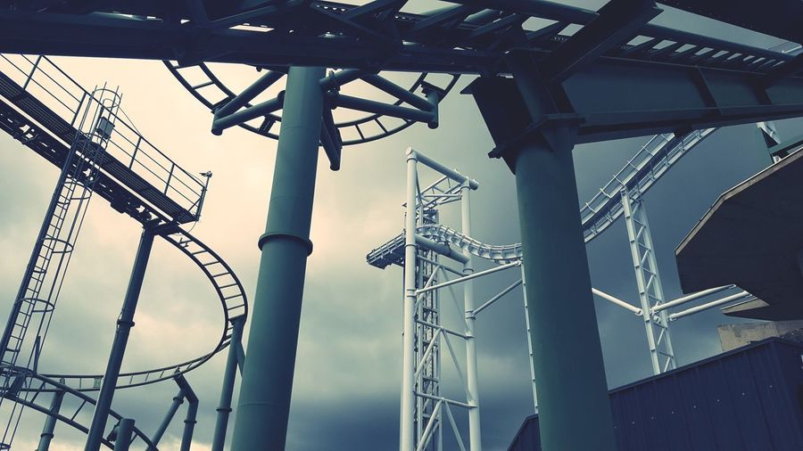 Rollercoaster End Built Structure No People Day Low Angle View Architecture Outdoors Sky