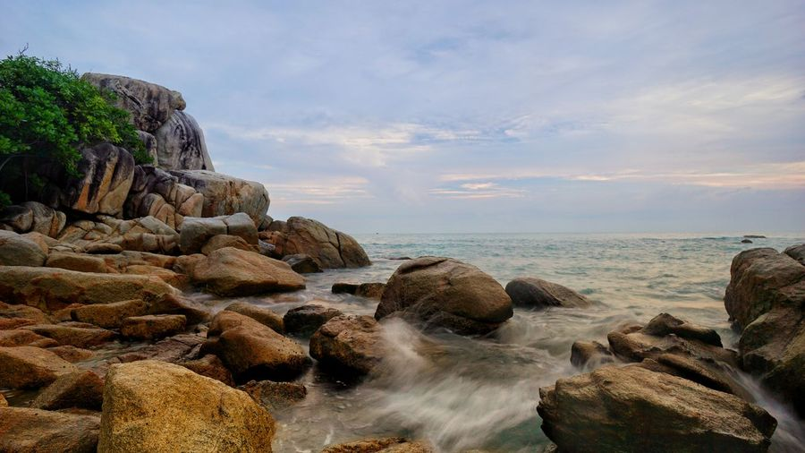 Parai Tengiri beach Low Shutter Speed Long Exposure Long Exposure Photography Long Exposure Shot Landscape Landscape Photography Beach Boulder INDONESIA Photography By @jgawibowo Arif Wibowo Photoworks Shot By @jgawibowo Shot By Arif Wibowo Island Bangka Rocky Beach Trip To Bangka Indonesia Scenic Granitic Beach Scenic Seascape Travel Photography Pantai Beach Nature Rock - Object Sea Sand Cloud - Sky Water Wave Beauty In Nature