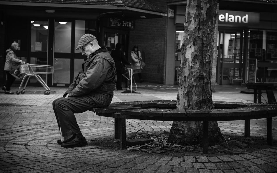 Sitting in silence.... the argument goes on... Alone Lonely Back To Back Dispute Divorce Real People Seat One Person Lifestyles Bench Sitting Full Length Casual Clothing Architecture Men Leisure Activity Street Footpath Built Structure Adult Relaxation Side View Day Outdoors Contemplation Waiting Paving Stone Social Issues Argument Silence