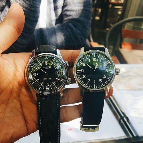 Watch 시계 Stowa 스토바 Longines 론진 Flieger 플리거 Legenddiver 레전드다이버 Eta2824 스위스 다이버 & 독일 에어맨 무브먼트와 케이스 크기,러그 폭까지 같다.
