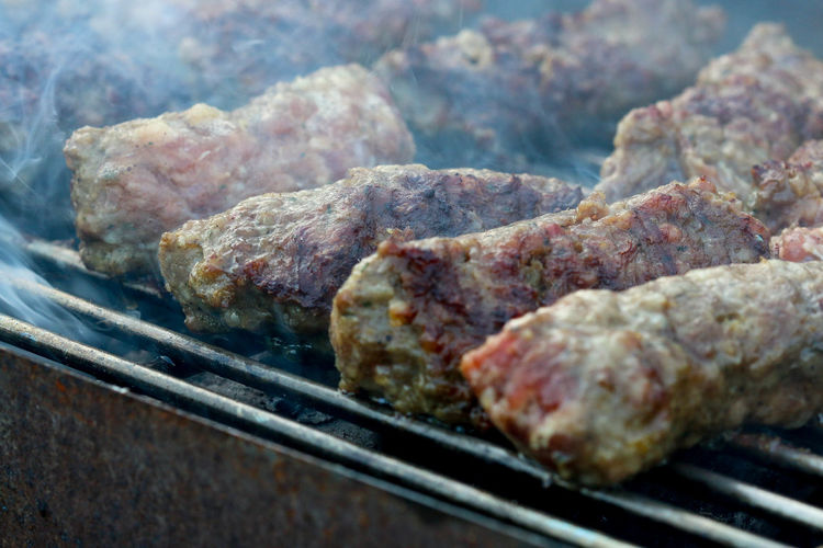Close-up Day Food Food And Drink Freshness Grill Grilled Grilled Minced Meat Rolls Grilling Indoors  Meat Mici Mititei No People Preparation  Rib Romanian