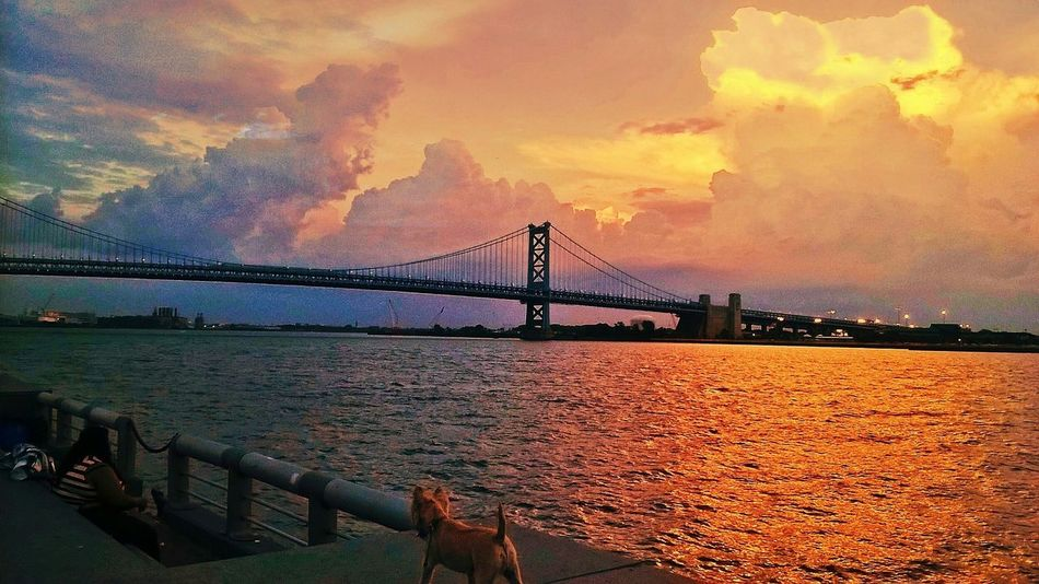 Bridges RedSky Sky_collection Philadelphia Benjamin Franklin Bridge