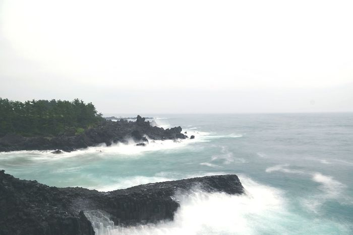 When I visited. Jeju Vacations Korea Trip Traveling Outdoors Summer No People Blue Water Sea Nature Photography NX300M Samsungcamera Nature Beaitiful Moment Waves Day Trip Jeju Island, Korea Nice View Good Day Favorite Places Columnar Joints EyeEm Korea Hsun
