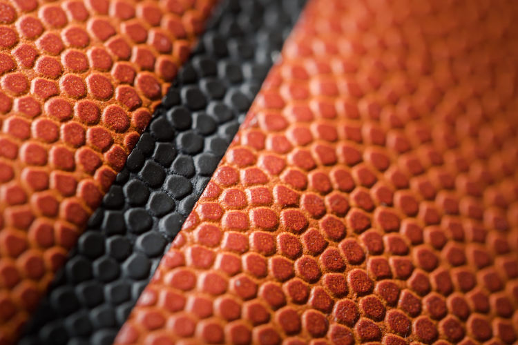 Macro of a basketball. Baby Backgrounds Basketball Circle Close-up Design Extreme Close Up Full Frame Geometric Shape Multi Colored No People Pattern Red Repetition Selective Focus Sport Textured  Macro Macro_collection