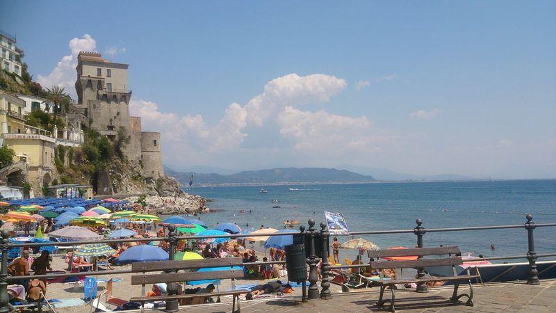 Sea Outdoors Day Wave Beach Scenics Beauty In Nature Sun Sky Water Amalfi Coast Cetara Cetarabeach Rollercoaster Sea Outdoors Amusement Park Day No People