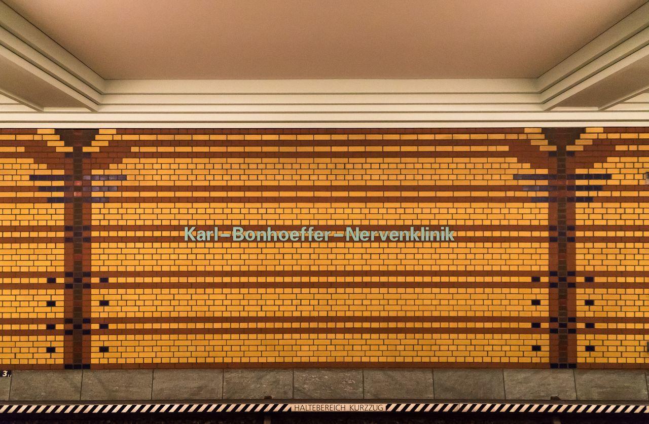 Text On Wall At Berlin Karl-Bonhoeffer-Nervenklinik Station