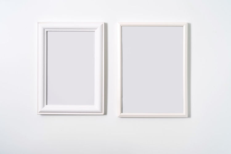 Close-up of white wall in museum
