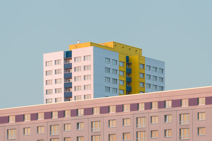 xyz Apartment Architecture Asymmetry Building Exterior Built Structure City City Life Cityscape Clear Sky Day Geometric Grid No People Parallel Lines Residential Building Sky Urban Geometry Window The Graphic City