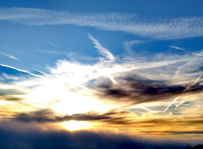 Flying Fish? Cloud - Sky Sky Blue Nature Dramatic Sky Scenics Sunset