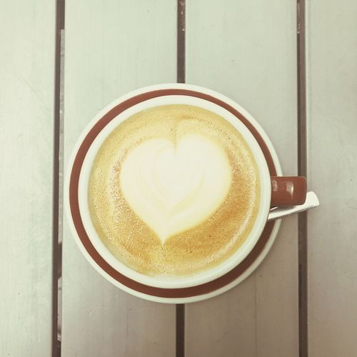 Coffee Drink Coffee Food And Drink Mug Refreshment Coffee Cup Cup Coffee - Drink Table Directly Above Froth Art Frothy Drink Hot Drink Cappuccino