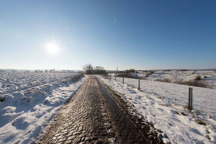 Winter Snow ❄ Snow Countryside Landscape Electric Lines Field
