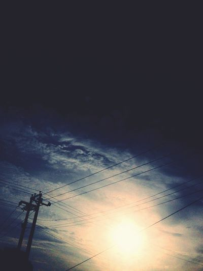 Power Line  Connection Electricity Pylon Low Angle View Electricity  Technology Power Supply Cable Fuel And Power Generation Sky Sunset Sun Power Cable Blue Sunbeam Scenics Cloud - Sky Lens Flare Tranquility Nature