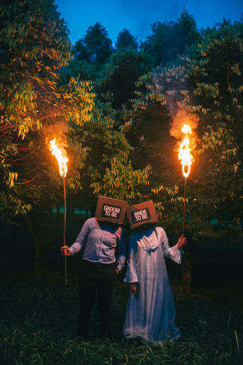 Couple Engagement Loving Nature Nature The Week Of Eyeem Wedding Weddings Around The World Flame Forest Night People Pre Wedding Real People Togetherness Two People The Portraitist - 2018 EyeEm Awards