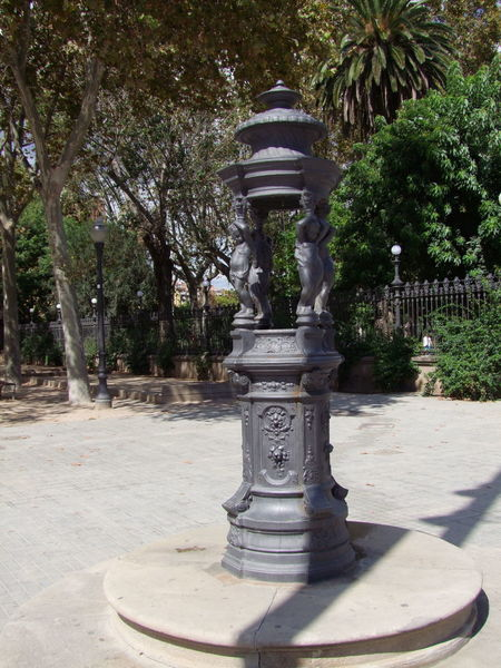Water Fountain (many of this type in the city) Amenity Art Barcelona City Composition Creativity Footpath Fountain Full Frame Garden Feature Human Representation No People Outdoor Photography Park Sculpture Spaın Statue Sunlight And Shadow Tourism Tranquil Scene Trees Unusual Water Water Fountain