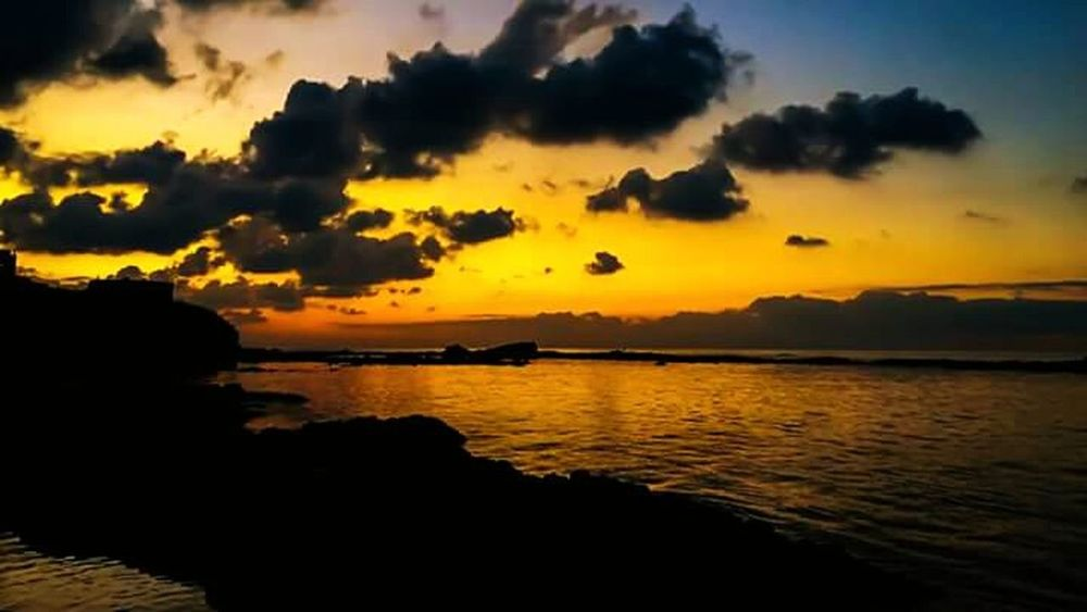 A L G E R I A. Sunset Travel Destinations Landscape Outdoors Beauty In Nature Reflection Sea Scenics Nature Water Sky No People First Eyeem Photo Algeria Photography Algeria Algérie Dellys Nature Sunlight Beauty In Nature Skyonfire Cloudy Skies Clouds And Sky Red Fire