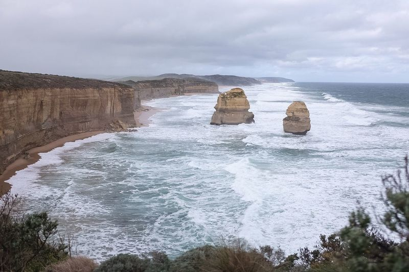 Beach time. Check This Out Outdoors View Nature Beach Cliff 12 Apostles Great Ocean Road Cold Weather Sea Storm The OO Mission