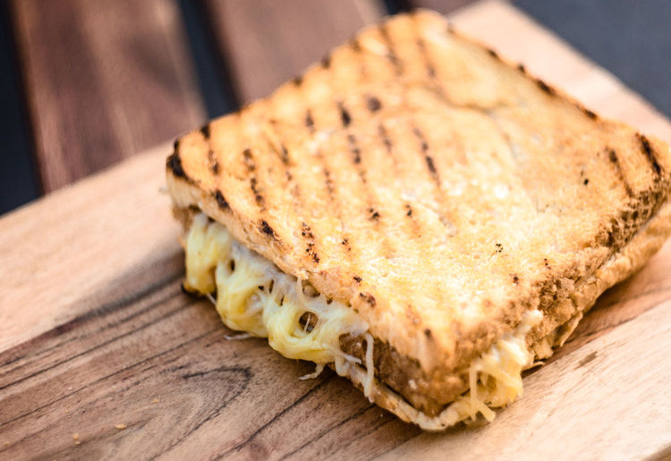 Close-up of toasted sandwich