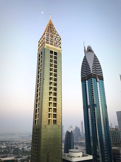 Gevora Hotel Dubai United Arab Emirates Emirates Dubai Skyscrapers Architecture Built Structure Building Exterior Office Building Exterior Skyscraper City Building Sky Modern Tower Tall - High Travel Destinations Clear Sky Travel No People Day Low Angle View