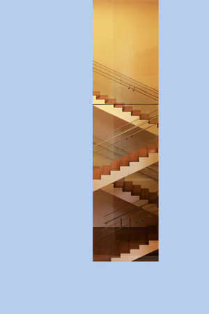 MOMA Stairs Architecture Color Lines Moma N.Y. Museum New York Stairs Up The Architect - 2017 EyeEm Awards