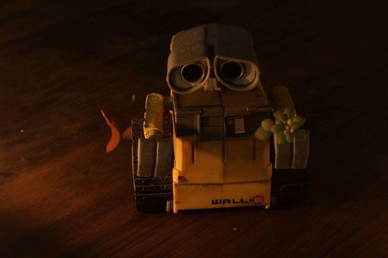 Wall-E Wall E Indoors  No People Still Life Table Dark