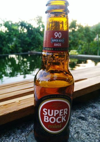 Bottle Beer Beer Time Super Bock Freshness Drink Cold Drink Close-up Food And Drink Beer - Alcohol Freshness Liquid No People Day Outdoors Refreshment Tranquility Oneplusonephotography Oneplus One Shotononeplus OnePlusOne📱 Reflections In The Water Portugal Reflection Refreshment